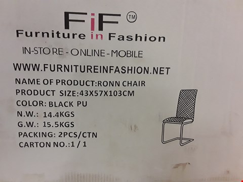 Lot 84 BOXED RONN CHAIR IN BLACK