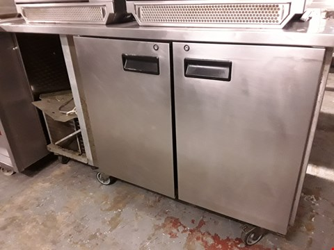 Lot 78 COMMERCIAL DOUBLE DOOR COUNTER FRIDGE