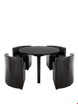 Lot 59 BOXED BLACK HIDEAWAY DINING TABLE RRP £529