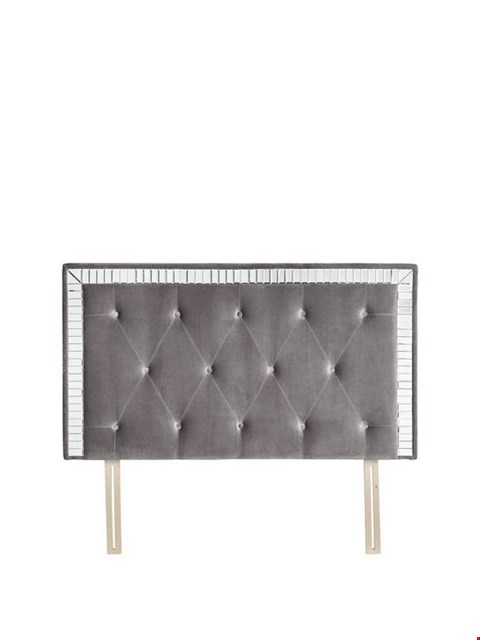 Lot 3343 BRAND NEW BOXED MICHELLE KEEGAN MIRAGE GREY DOUBLE HEADBOARD (1 BOX) RRP £249