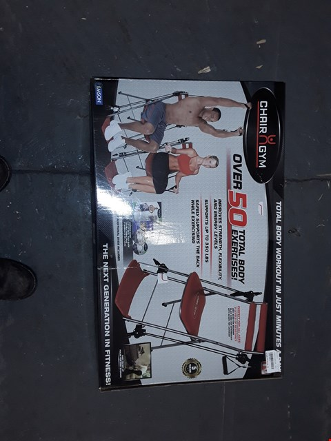 Lot 5317 CHAIR GYM TOTAL BODY EXERCISE SYSTEM RED