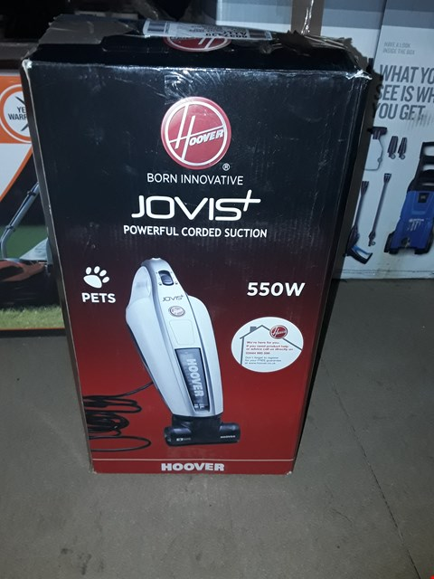 Lot 12601  HOOVER SM550AC JOVIS + CORDED HANDHELD VACUUM CLEANER, WHITE/GREY