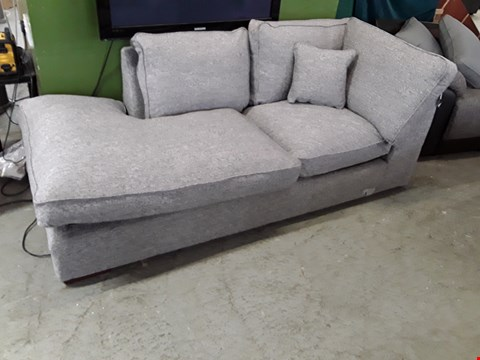 Lot 3 DESIGNER GREY FABRIC CHAISE SECTION