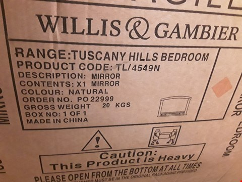 Lot 306 BOXED TUSCANY HILLS BEDROOM MIRROR