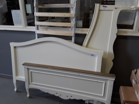 Lot 5288 LOT OF 4 ASSORTED WHITE BED FRAME PARTS
