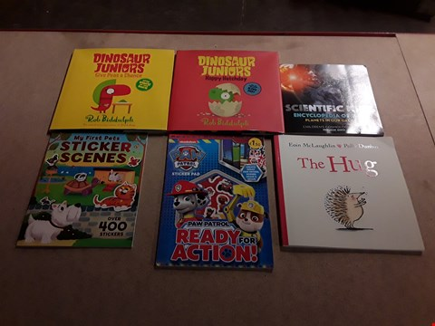 Lot 485 LOT OF APPROXIMATELY 13 ASSORTED CHILDREN'S BOOKS TO INCLUDE DINOSAUR JUNIORS GIVE PEAS A CHANCE BY ROB BIDDULPH, MR. CHEERFUL BY ROGER HARGREAVES, THE HUG BY EOIN MCLAUGHLIN AND POLLY DUNBAR ETC