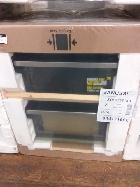Lot 6057 ZANUSSI ZOF35661XK ELECTRIC DOUBLE OVEN RRP £375