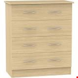 Lot 13 4 DRAWER CHEST PAIR IN BEECH ESSENTIAL RRP £200