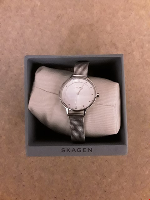 Lot 2237 SKAGEN ANITA STAINLESS STEEL LADIES WATCH ON MESH BRACELET RRP £169