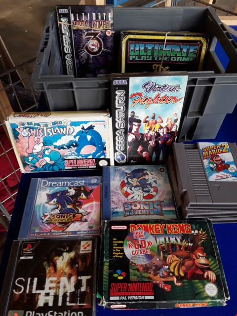 Lot 7689 BOX OF ASSORTED CLASSIC VIDEO GAMES TO INCLUDE VIRTUA FIGHTER, SONIC ADVENTURE 2, SILENT HILL ETC