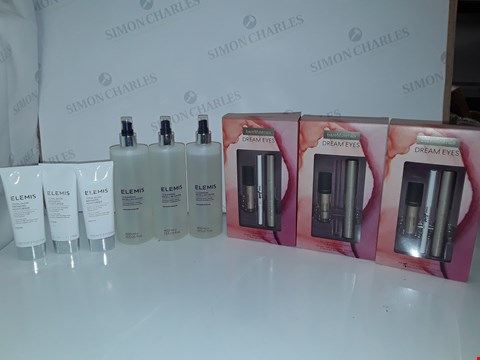Lot 5223  3 X ELEMIS TOTAL GLOW BRONZING MOISTURISER, 3 X ELEMIS CLEANSING MICELLAR WATER, 3 X BARE MINERALS DREAM EYES SETS
