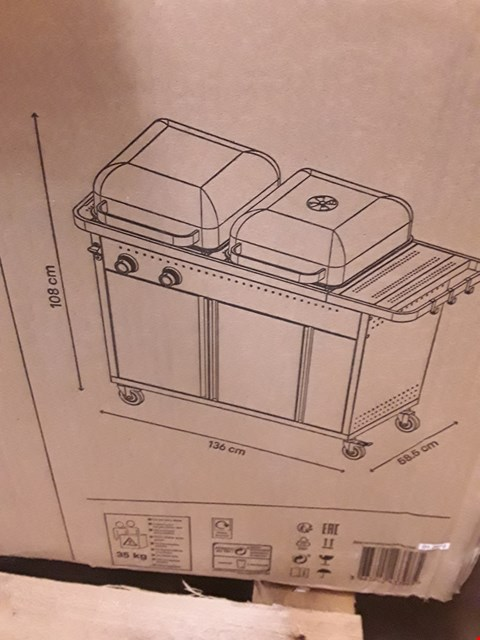 Lot 147 BOXED ROCKWELL HYBRID BBQ (GAS & CHARCOAL)