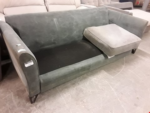 Lot 2005 DESIGNER GREY FABRIC THREE SEATER SOFA FRAME
