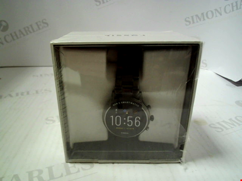 Lot 7004 FOSSIL GEN 5 SMARTWATCH 'THE CARLYLE' HR SMOKE STAINLESS STEEL