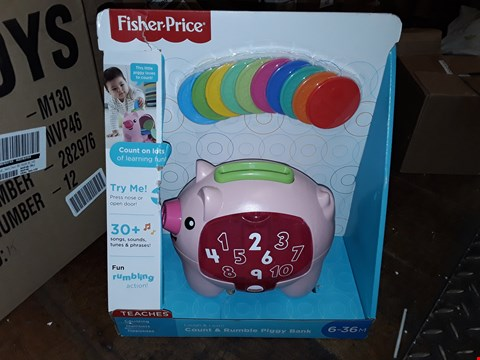 Lot 5093 FISHER-PRICE LAUGH & LEARN COUNT & RUMBLE PIGGY BANK