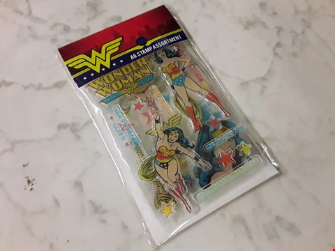 Lot 772 LOT OF APPROXIMATELY 94 WONDER WOMAN STAMP ASSORTMENTS