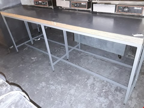 Lot 15043 NARROW METAL FRAMED WORK TABLE