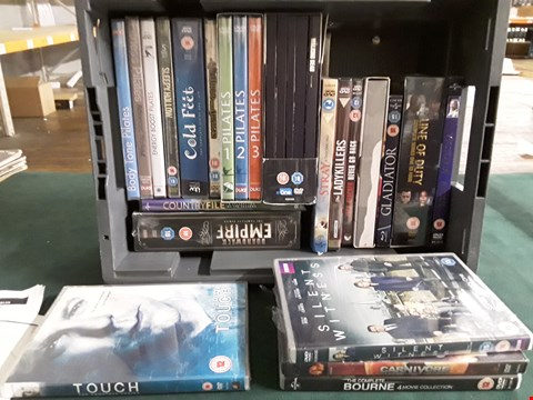 Lot 40 BOX OF APPROXIMATELY 20 ASSORTED DVD'S TO INCLUDE COLD FEET, GLADIATOR, SILENT WITNESS ETC