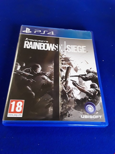 Lot 7627 TOM CLANCY'S RAINBOW SIX SEIGE PLAYSTATION 4 GAME