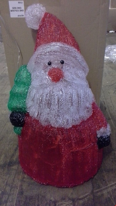 Lot 374 ACRYLIC JOLLY SANTA OUTDOOR CHRISTMAS DECORATION  RRP £65.00