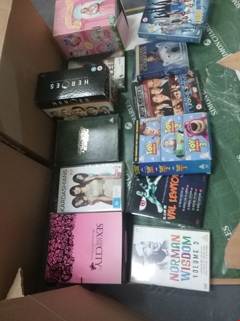 Lot 12078 A BOX OF APPROXIMATELY 21 ASSORTED DVD/BOXSETS TO INCLUDE THE SEX IN THE CITY DVD AND A KARDASHIANS DVD