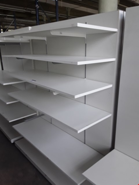 Lot 2081 WHITE ADJUSTABLE SHELVING UNIT WITH 5 SHELVES