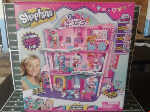Lot 11132 BRAND NEW BOXED FLAIR LEISURE SHOPKINS SHOPPIES SHOPVILLE SUPER MALL PLAYSET RRP £100.00