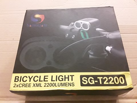 Lot 8494 BOXED SANGUAN SG-T2200 BICTCLE LIGHTS
