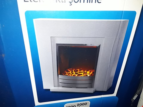 Lot 3060 BOXED BLYSS BECCLES ELECTRIC FIREPLACE SUITE WHITE  RRP £99