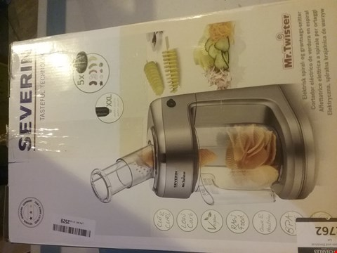 Lot 2762 SEVERIN KM 3923 ELECTRIC VEGETABLE SPIRALIZER