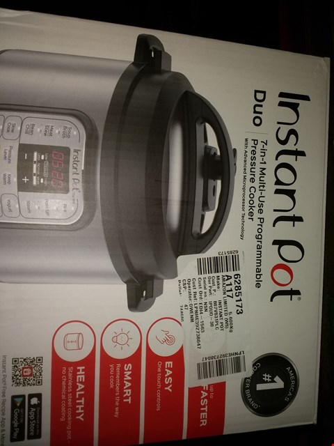 Lot 2227 INSTANT POT IPDUO-30 DUO MINI (CONDITION OF BOXES MAY VARY FROM PICTURED)