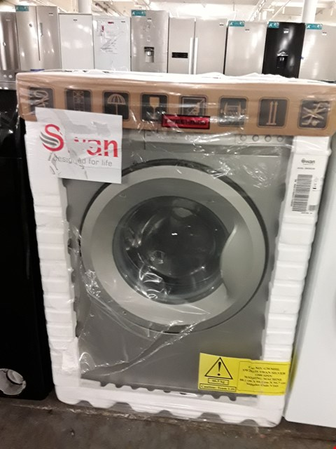 Lot 42 SWAN SW2023S SILVER 6KG 1200 SPIN WASHING MACHINE RRP £259