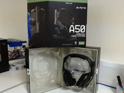Lot 15084 ASTRO A50 WIRELESS HEADPHONES AND BASE STATION FOR XBOX ONE
