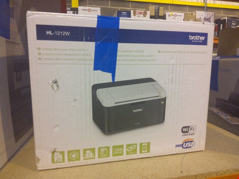 Lot 8434 BROTHER COMPACT MONO LASER PRINTER WITH WI-FI