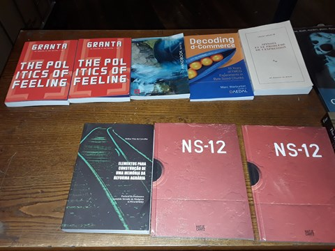 Lot 149 LOT OF APPROXIMATELY 10 ASSORTED BOOKS TO INCLUDE GRANTA THE POLITICS OF FEELING, ENGLISH HEITAGE HANDBOOK 2019/20 AND DECODING D-COMMERCE ECT