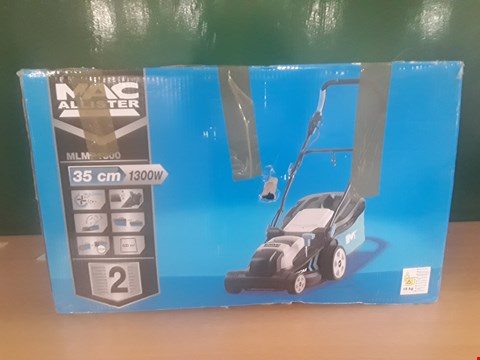 Lot 10 BOXED MACALLISTER MLMP1300 LAWNMOWER  RRP £68