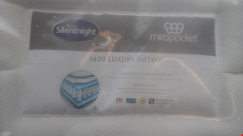 Lot 1273 QUALITY BAGGED SILENTNIGHT MIRAPOCKET 1400 LUXURY ORTHO 6FT MATTRESS AND DIVAN BASE