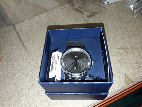 Lot 9221 TOMMY HILFIGER DARK GREY DIAL WATCH  RRP £200.00