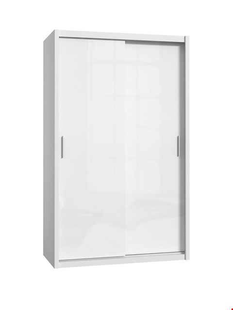 Lot 1092 BRAND NEW BOXED WESTBURY CASHMERE GLOSS 2-DOOR SLIDING WARDROBE (4 BOXES)  RRP £249.00