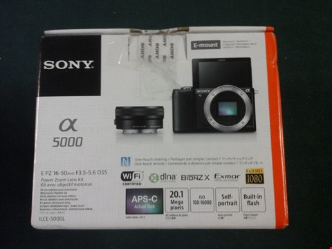 Lot 1025 GRADE 1 BOXED SONY ILCE5000L 20.1MP INTERCHANGEABLE LENS CAMERA RRP £579