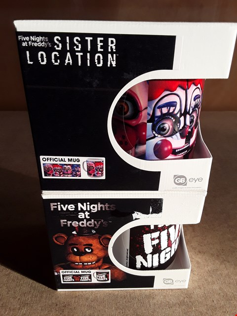 Lot 19 2 BRAND NEW BOXED FIVE NIGHTS AT FREDDY'S MUGS