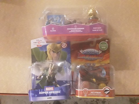 Lot 318 3 ASSORTED PRODUCTS TO INCLUDE; DISNEY INFINITY MARVEL SUPER HEROES LOKI, SKYLANDERS SUPER CHARGERS HOT STREAK AND SKYLANDERS NIGHTMARE EXPRESS