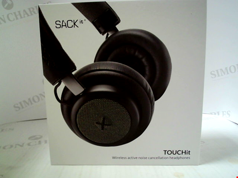 Lot 373 BRAND NEW SACK IT TOUCH IT WIRELESS ACTIVE NOISE CANCELLATION HEADPHONES