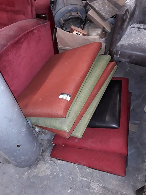 Lot 3027 A LOT OF OF APPROXIMATELY 8 UPHOLSTERY PANELS VARIOUS COLOURS