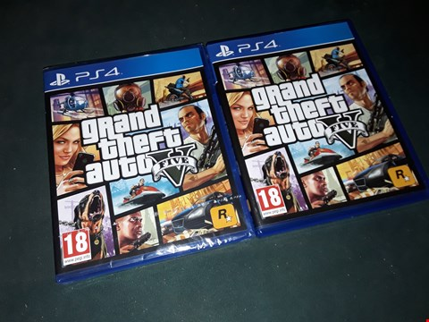 Lot 7185 2 X BRAND NEW SONY PS4 GRAND THEFT AUTO 5 GAME  RRP £120