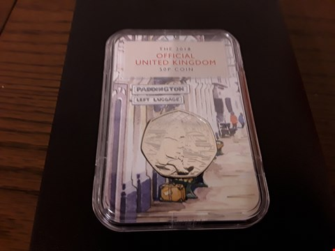 Lot 9151 BOXED THE PADDINGTON AT THE STATION 50P COIN CAPSULE