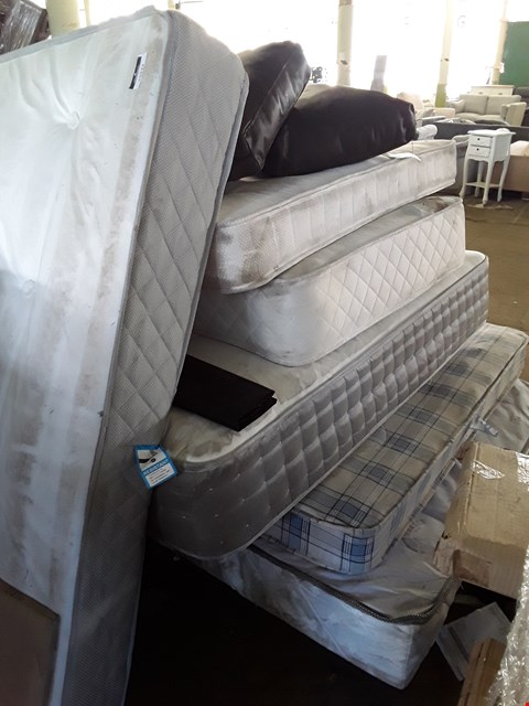 Lot 10038 PALLET OF APPROXIMATELY 6 ASSORTED UNBAGGED DESIGNER MATTRESSES