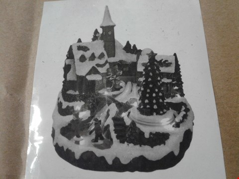 Lot 176 MUSICAL POLYRESIN CHRISTMAS VILLAGE SCENE RRP £38
