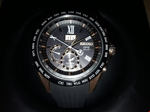 Lot 9203 SEIKO ASTRON GPS BLACK RUBBER ROSE GOLD PLATED CASE MODEL: SSE153J1 RRP £2299.00