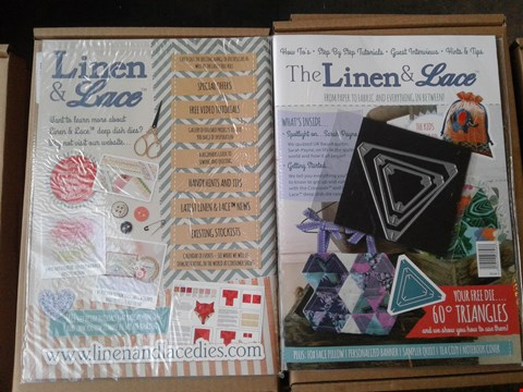 Lot 2307 4 BOXES OF APPROXIMATELY 160 BRAND NEW LINEN AND LACE MAGAZINE ISSUE 1